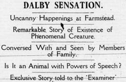 Dalby Sensation. Newspaper jpg